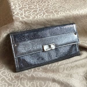AUTH JIMMY CHOO REESE GLITTER LUXURY FORMAL CLUTCH